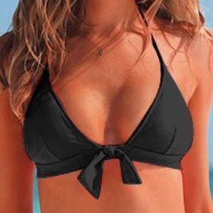 Victoria's Secret Black Triangle Tie Bikini